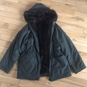 Jackets & Blazers - Reversible faux fur coat